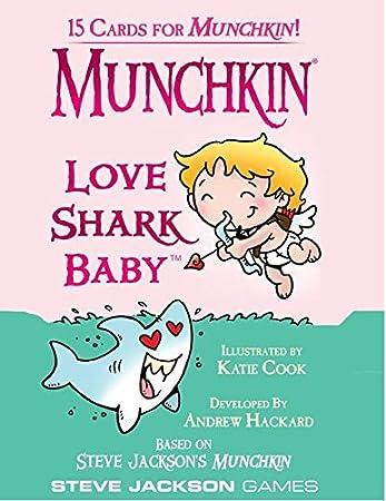 Munchkin – 332224 – Juego de Tarjetas de – Love Shark Baby Booster Pack – D10: Amazon.es: Juguetes y juegos