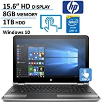 HP Pavilion X360 15.6 HD Touchscreen 2 in 1 Laptop Computer, Intel Dual Core i5-6200U 2.3Ghz Processor, 8GB Memory, 1TB HDD, USB 3.0, HDMI, Rj45, Windows 10 (Certified Refurbished)