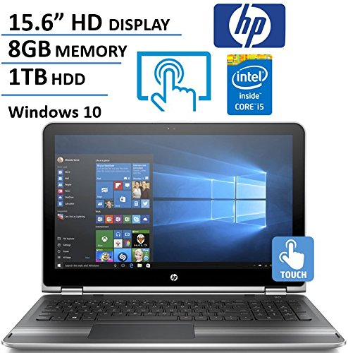HP Pavilion X360 15.6″ HD Touchscreen 2 in 1 Laptop Computer, Intel Dual Core i5-6200U 2.3Ghz Processor, 8GB Memory, 1TB HDD, USB 3.0, HDMI, Rj45, Windows 10 (Certified Refurbished)