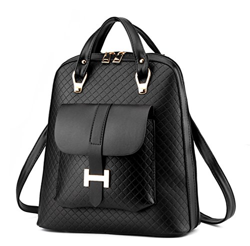 BAO Bolsa de mujer Bolsas de hombro Bolsas de Crossbody Bolsas de moda de mujer Mochilas de viaje suave Viento de la universidad , Blue negro