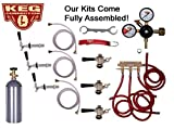 3 Faucet Refrigerator Keg Kit, for Standard Kegs, Chudnow Regulator by Kegconnection