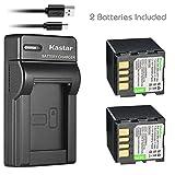 Kastar Battery X2 & Slim USB Charger for JVC BN-VF707 VF707U VF707UE VF707US BN-VF714 VF714L VF714U VF714UE VF714US BN-VF733 VF733U VF733UE VF733US JVC GR-D239 GR-D240 GR-D245 GR-D247 GR-D250 GR-D270