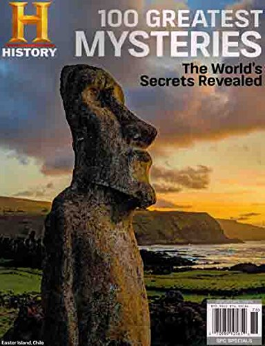 History Channel Magazine 2017 World's Secrets Revealed 100 GREATEST MYSTERIES