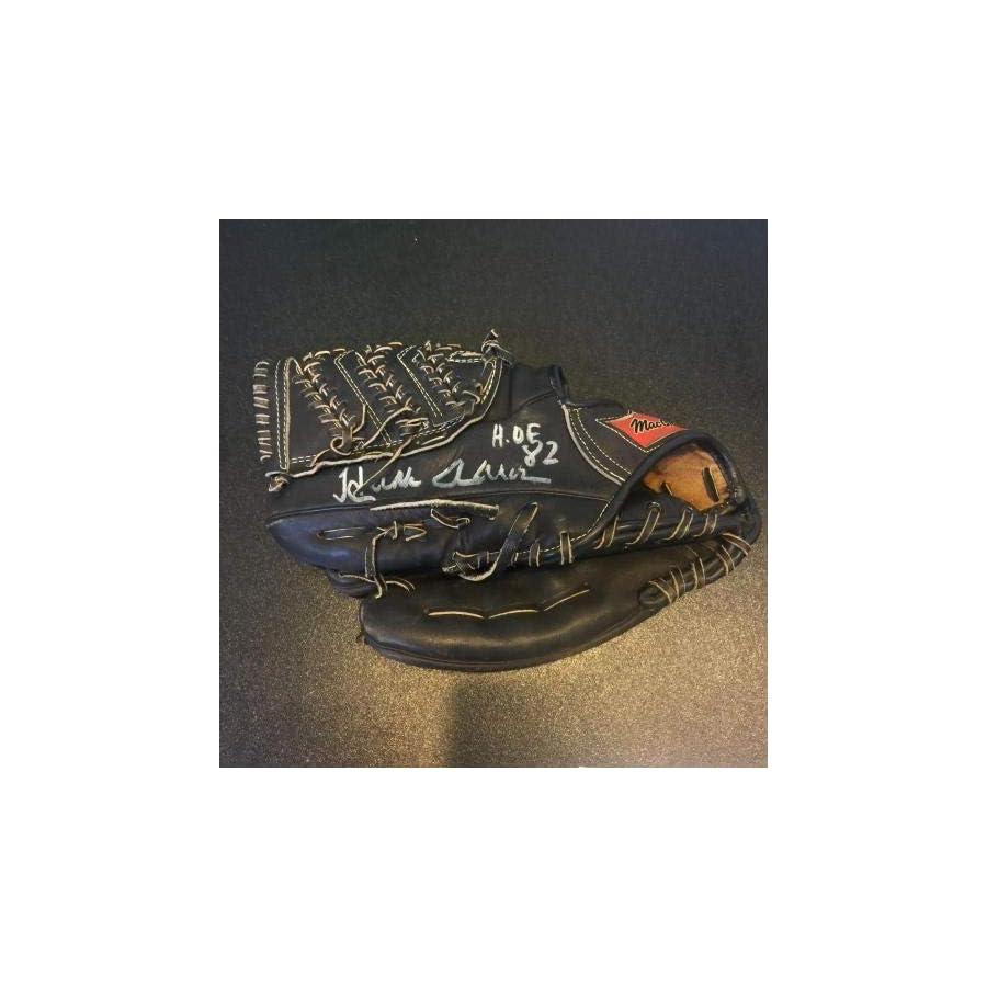 """Vintage Hank Aaron Signed Game Model Glove Inscribed""""Hall Of Fame 1982"""" COA JSA Certified Autographed MLB Gloves"""
