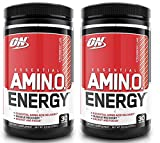 Optimum Nutrition Essential Amino Energy for Focus + Muscle Recovery | 2 Pack Strawberry Lime Flavor (30 serv Each) (Strawberry Lime)