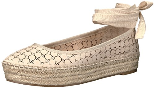 Jessica Simpson WoMen Mikaela Ballet Flat, Black, Medium Vanilla Cream