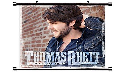 Thomas Rhett Country Singer Fabric Wall Scroll Poster