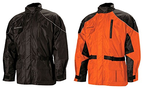 Nelson Rigg AS-3000 Aston Rainsuit, (Black/Orange,X-Large), 2 Piece, 2 - Nelson.com