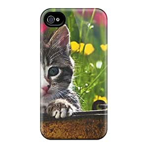 DPH17368nYME Case Cover Protector For Iphone 4/4s Kitten In A Tin Pail Case