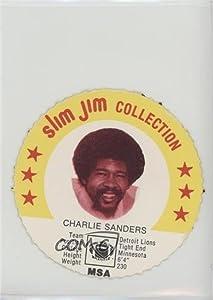 Charlie Sanders (Football Card) 1978 Slim Jim Collection Discs - [Base] #CHSA