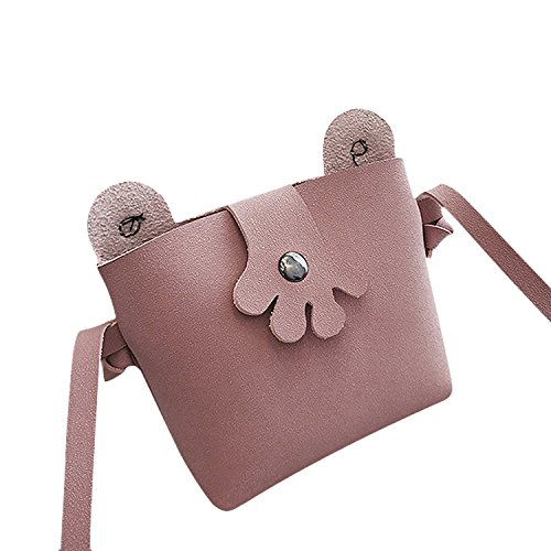 Cell Leather PU Teens Shouder Pink Phone Pouch Mini Frog Girls for Bag Purse Wallet Crossbody Handbags Cute BUz41q8w0