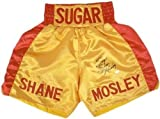 Sugar Shane Mosley Autographed Yellow & Red Custom Boxing Trunks JSA – Autographed Boxing Robes and Trunks