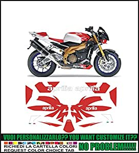 Kit adesivi decal stikers aprilia tuono 1000r factory 2006 (ability to customize the colors)
