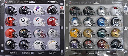 NFC & AFC Speed Pocket Pro Mini Helmet Conference Sets - 32 Helmets - All current NFL teams -