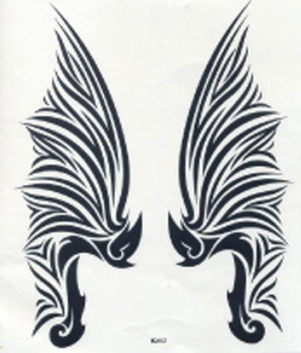 GGSELL GGSELL hot selling extra large new design big size 7.87 x 8.66 Inches waterproof angel wings temporary tattoo sticker for back