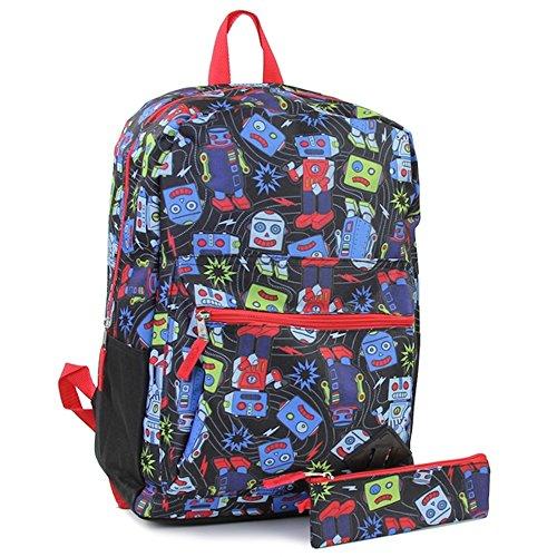 Backpack Robot - Robots 2-Piece Backpack Set. Includes: 16 Backpack & Pencil Case