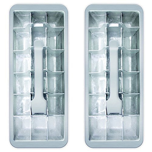 18 Cube Vintage Kitchen Ice Cube Tray 2-Pack Aluminum Ice Cube Tray