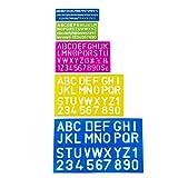 #4: Mr. Pen- Alphabet Templates, Alphabet Stencils, Pack of 5, Letter Stencils, Template Letters, Stencils Letters and Numbers, Art Stencils, Drawing Tools, Drafting Supplies, Tracing Letters and Numbers