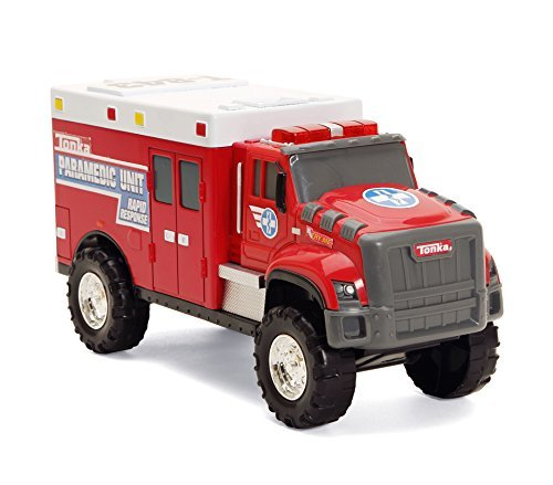 (Tonka Rescue Force Lights & Sounds Paramedic Unit Rapid Response Ambulance)