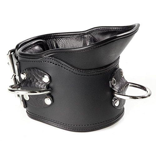 Imbottito Exclusive collare in pelle con supporto colletto 100% 100% 100% Pelle Nappa L/XL (larghezza: circa 9 cm di lunghezza: 50 cm) nero b2d54f