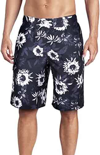 b154cfec694 Men s Swim Trunks Quick Dry Board Shorts with Meshlining and Cargo Pocket  Length at The Knee