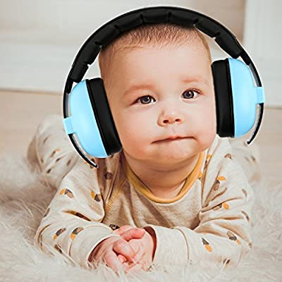Baby Headphone Noise Reduction - Noise Cancelling Headphone for Babies and Toddlers - Baby Earmuff - Ages 3-24+ Months - Infant Hearing Protection Earmuff - Soft & Adjustable - Baby Ear Protection