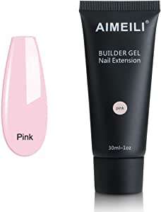 AIMEILI Pink Quick Builder Gel 30ml 1oz Nail Enhancement Nail Extension Tool