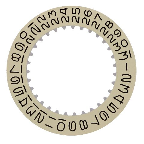 1500 Calendar - CALENDAR DATE DISC FOR ROLEX WATCH DATE, DATEJUST 1601, 1602,1603, 1500 CHAMPGNE