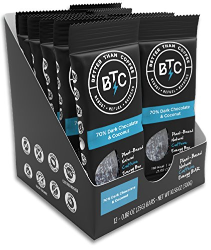 Better Than Coffee Health Energy Bars, Gluten Free, 12 count