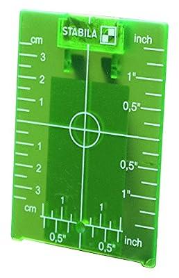 Stabila 07442 Type LAR120G Green Magnetic Ceiling Target Plate