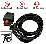 BabyGo Strong Cable Bicycle Lock & Helmet Lock for Cycles and Bikes