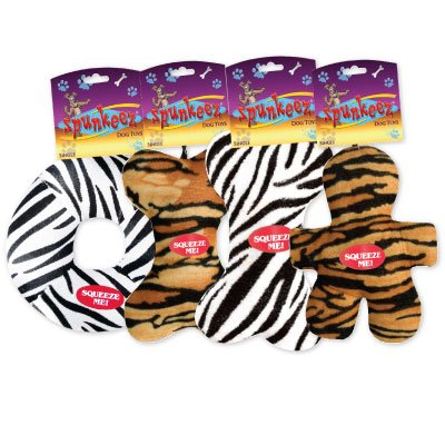SPUNKEEZ PLUSH ANIMAL PRINTS 7'' #35046, CASE OF 144 by DollarItemDirect