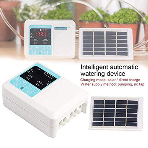 UUMO Watering Device 1Set Automatic Irrigation System Intelligent Water Timer Solar Powered with Waterproof LCD Display Digital Watering Controller System