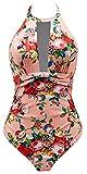 B2prity Women One Piece Swimsuit, High Neck Bathing Suit Plus Size Tummy Control, 3, M(8-10)