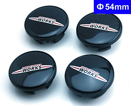 4pcs W073 54mm John Cooper Works Car Styling Accessories Emblem Badge Wheel Hub Caps Center Cover MINI John Cooper Tattoo Clubman Contryman man - John Works Cooper Mini