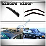 vent shades 2001 ford ranger - D&O MOTOR 3pcs Combo Smoke Tape-On Moon Roof Shield+Front Doors In-Channel Sun/Rain Guard Vent Shade Window Visors For 93-11 Ford Ranger 94-10 Mazda B2300/B2500/B3000/B4000 Regular & Extended Cab