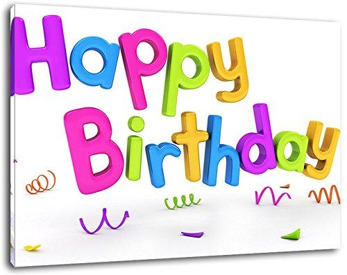 Colorido Feliz cumpleaños letras Tamaño: 120x80 cm pintura ...