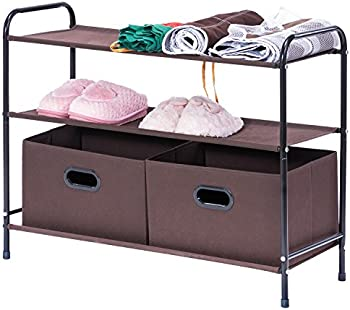 MaidMAX 3-Tier Shelves Clothes Organizer & 2 Drawers