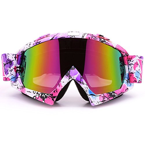 Bendable Windproof Eyewear Protective Glasses Ski Goggles, Zdatt Snow Skiing Snowboarding Motocross Anti-Fog Goggles Dustproof Scratch-Resistant Bendable Unisex - Newest Eyewear