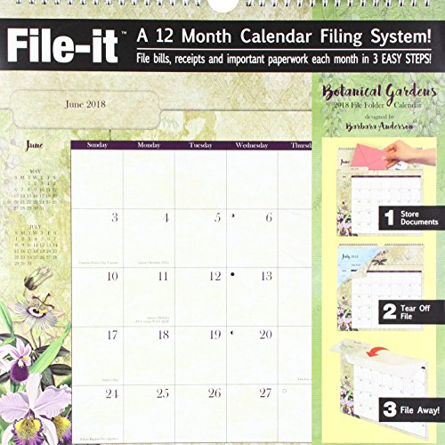 The LANG Companies WSBL Botanical Gardens 2018 File-It Office Wall Calendar (18997006034)