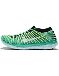 NIKE Womens WMNS Free RN Motion Flyknit, Clear Jade/White-Black-Volt