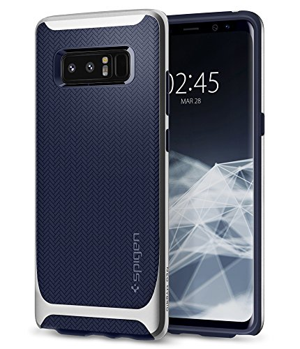Spigen Neo Hybrid Galaxy Note 8 Case with Herringbone Flexible Inner Protection and Reinforced Hard Bumper Frame for Galaxy Note 8 (2017) - Arctic Silver