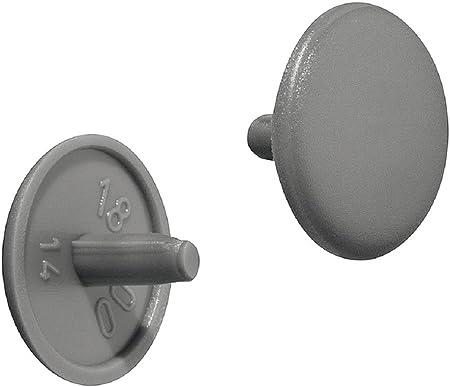 lot de 4 réf PB cache vis en plastique BLANC diamètre 20 mm à clipser
