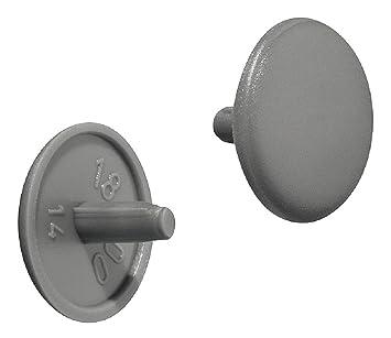 100 St/ück Abdeckstopfen 13 x 10 x 6,3 mm Grau