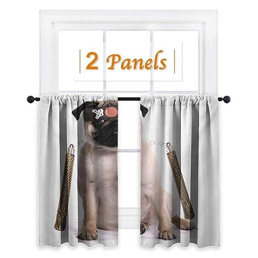 Flyerer Pug, cortinas opacas para niños, cachorro ninja con ...