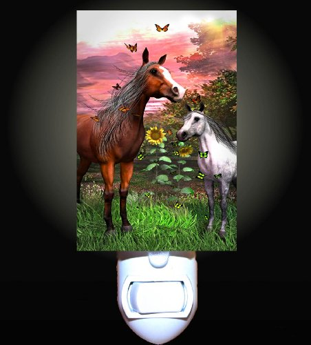 Horse and Foal Fantasy Decorative Night Light