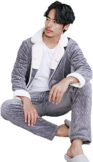 Pijamas Pijamas para hombres, gruesos, cálidos, servicio a ...
