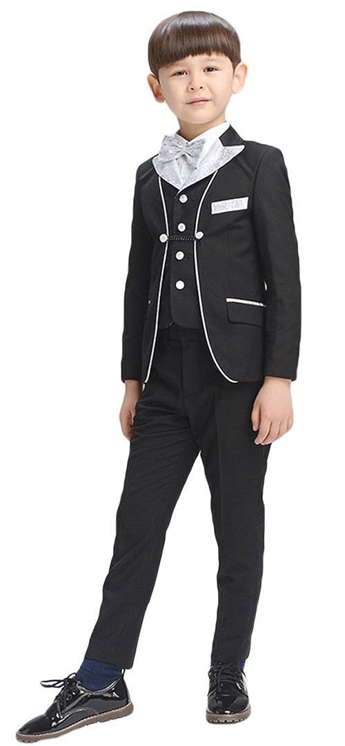 AvaCostume 5 Piece Kids Boy Formal Tuxedo No Tail Suit 11-YN-17283