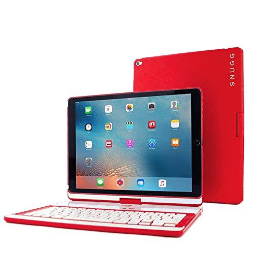 Ipad pro 12 9 2015 keyboard snugg red wireless for Best home office wireless keyboard