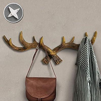 MLSH Deer Head Coat Hooks- Vintage Antique Retro Decoración ...